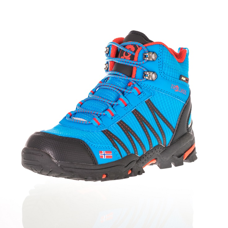 "Trollkids Kids ""Trolltunga Hiker Mid"" - blue/ red"