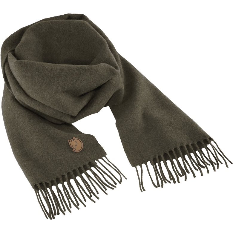 "Fjällräven ""Solid Re-Wool Scarf""- deep forest"