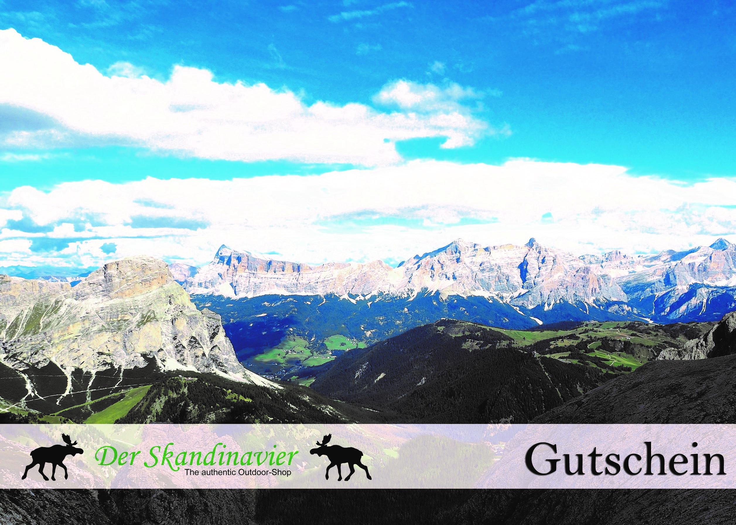 """Geschenk - Gutschein """"Motiv Berge"""""""