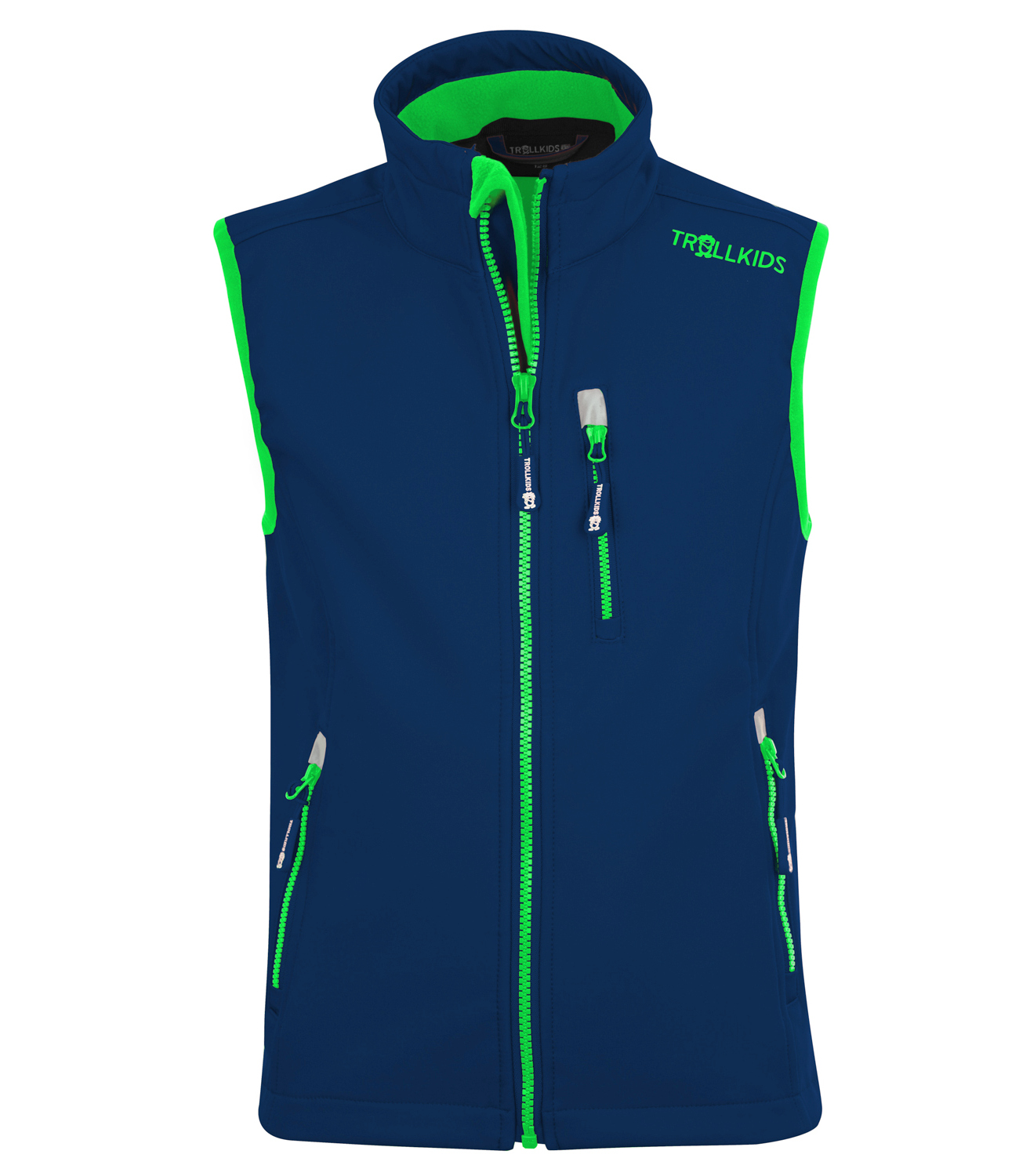 "Trollkids ""Kids Trollfjord Vest"" - navy/light green"