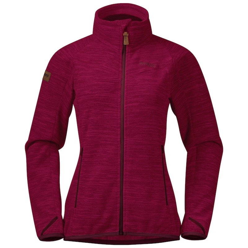"Bergans ""Hareid Fleece W Jkt NoHood"" - zinfandel red"