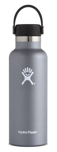 "Hydro Flask ""Standard Mouth mit Flex Cap - 18 OZ"" - graphite"
