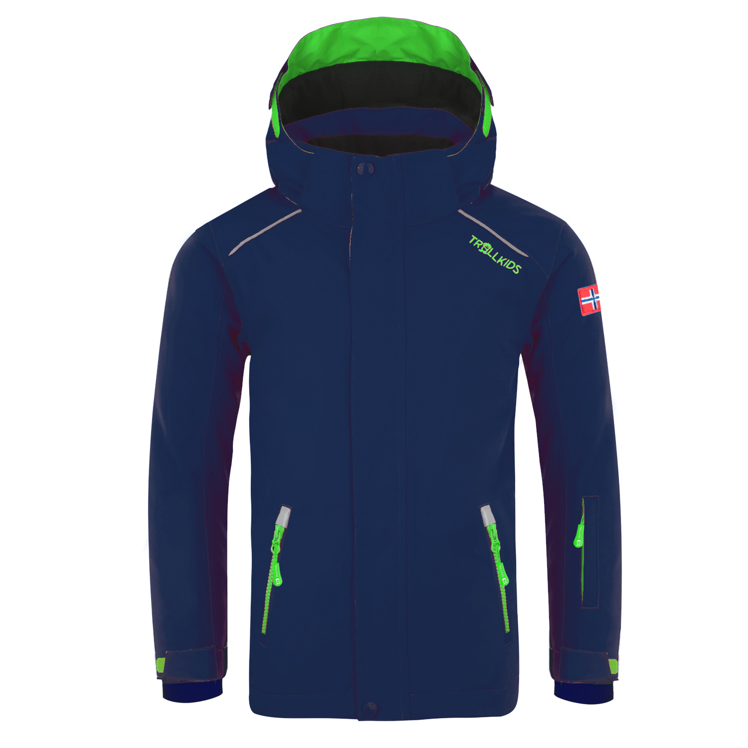 "Trollkids ""Kids Holmenkollen Snow Jacket"" - navy/green"