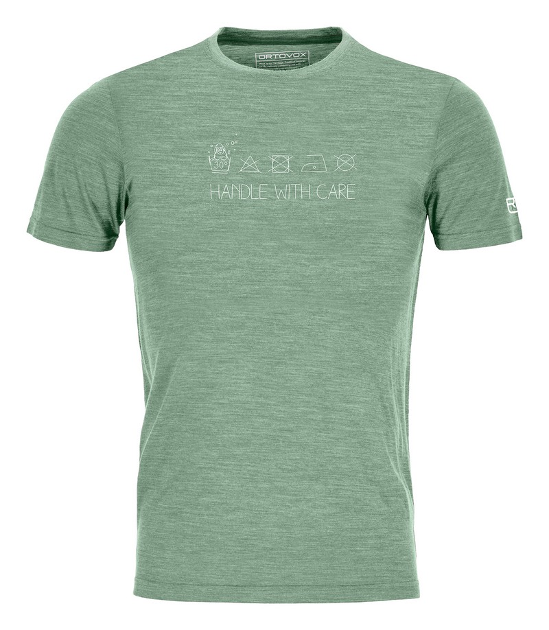 "Ortovox ""120 Cool Tec Wool Wash TS M"" - green isar blend"