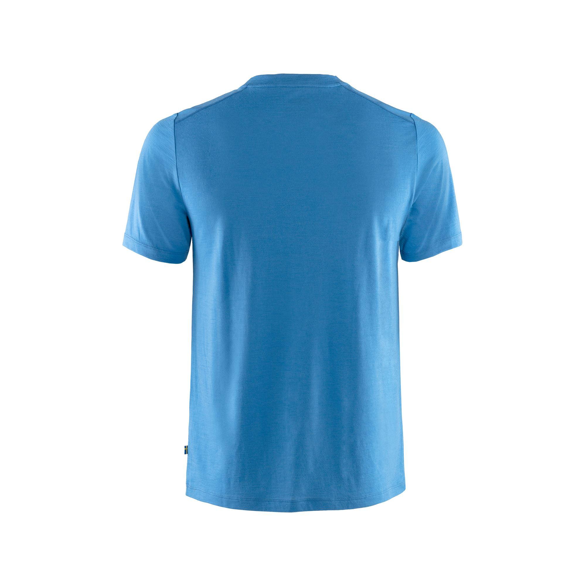 """Fjällräven """"Abisko Wool Fox SS M"""" - UN blue"""