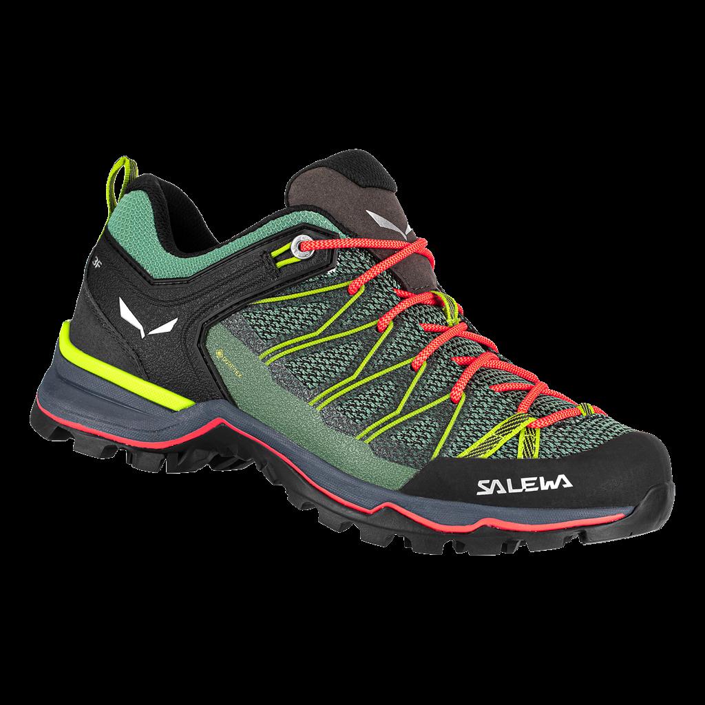 "Salewa ""Ws Mtn Trainer Lite GTX"" - field green/ fluo coral"