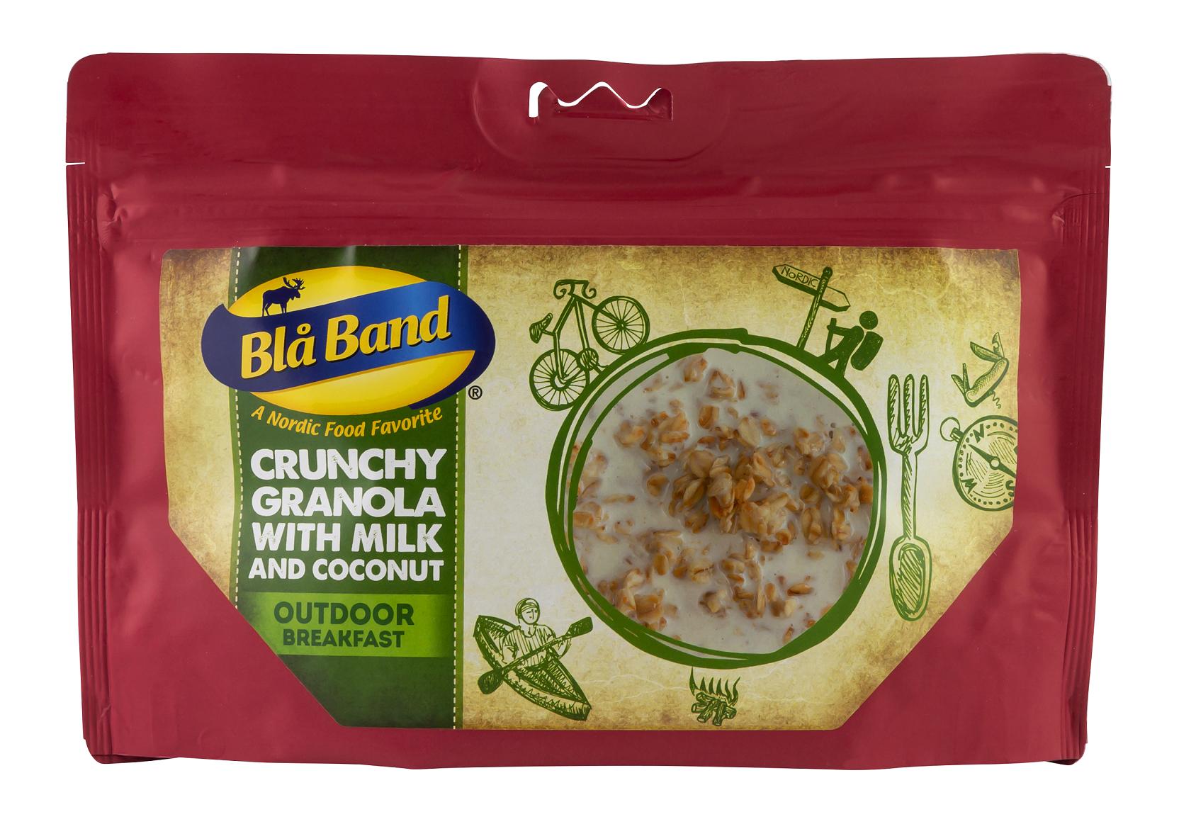 """Bla Band Frühstück """"Knuspriges Müsli mit Milch und Kokosnuss"""""""