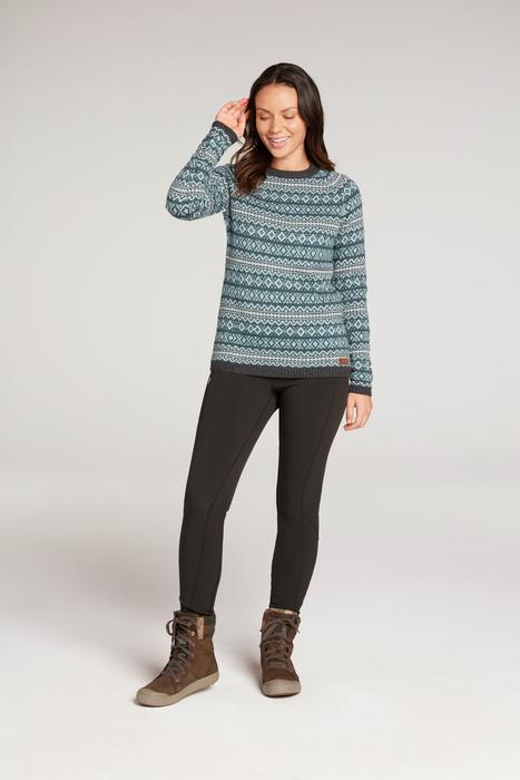 "Sherpa ""Paro Crew Sweater"" - rathna green"