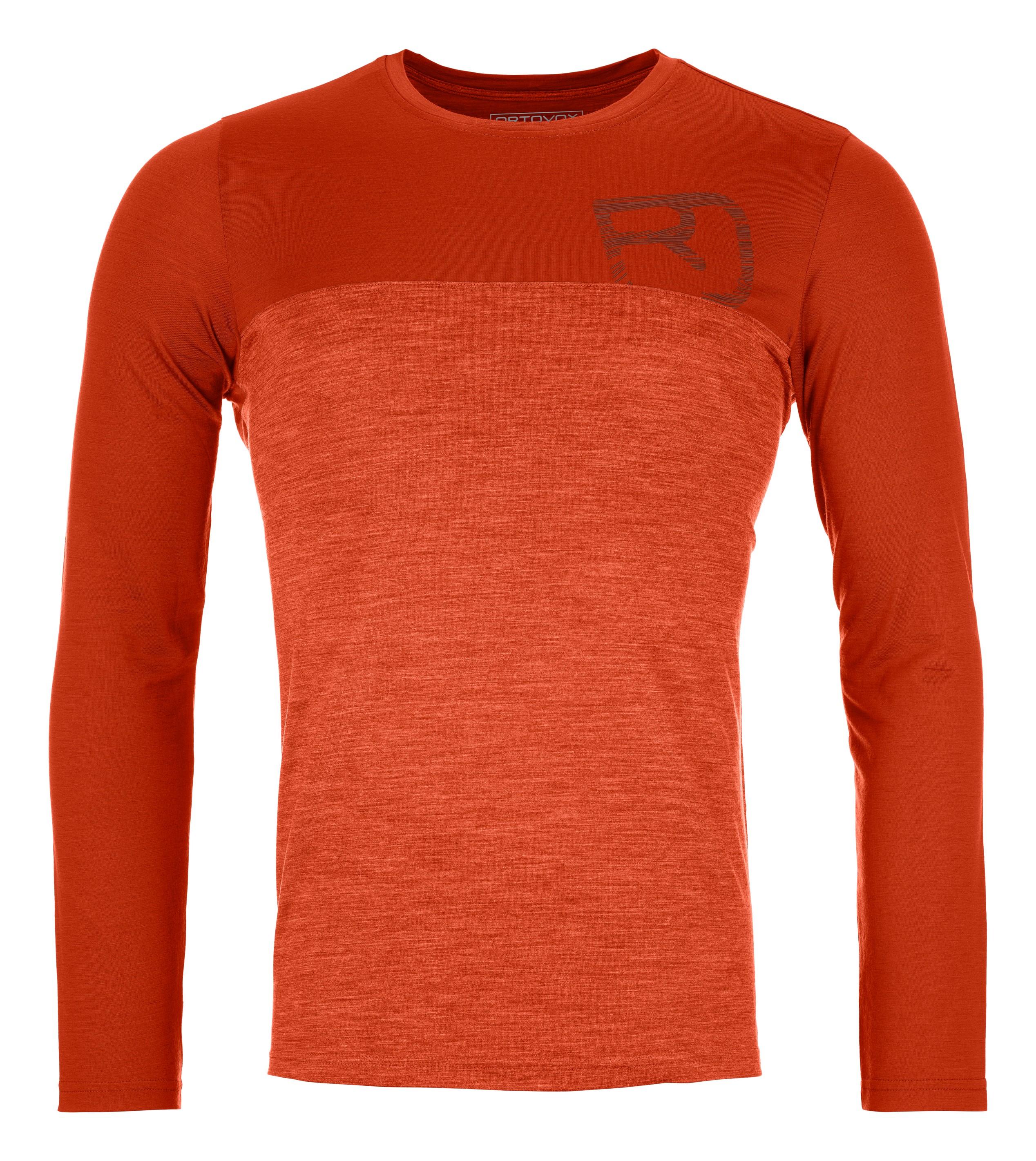 "Ortovox ""150 Cool Logo LS M"" - desert orange"