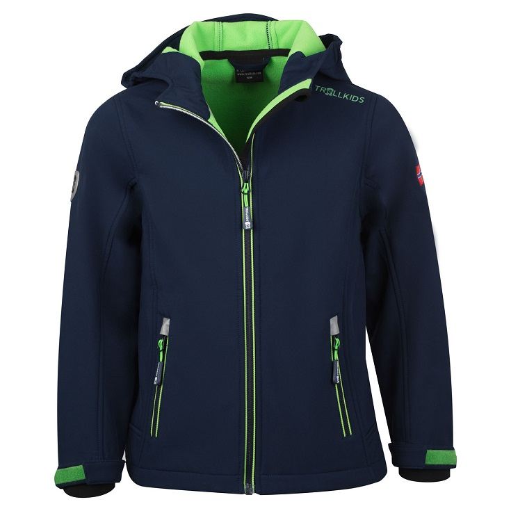 "Trollkids Kids ""Trollfjord Jacket"" - navy/ light green"