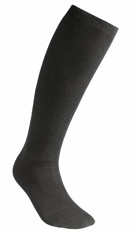 """Woolpower """"Lite Socks Liner Knee-High"""" - black"""
