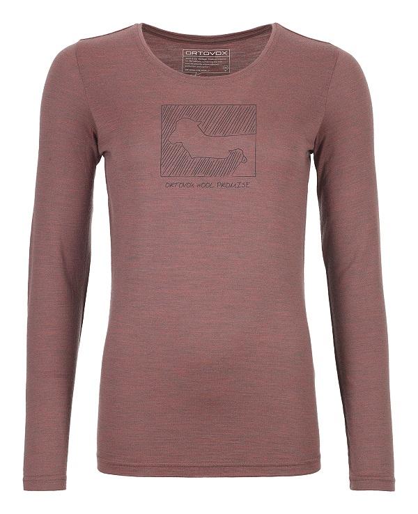 "Ortovox ""185 Merino Contrast LS W"" - blush blend"
