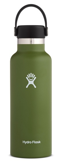 "Hydro Flask ""Standard Mouth mit Flex Cap - 18 OZ"" - olive"