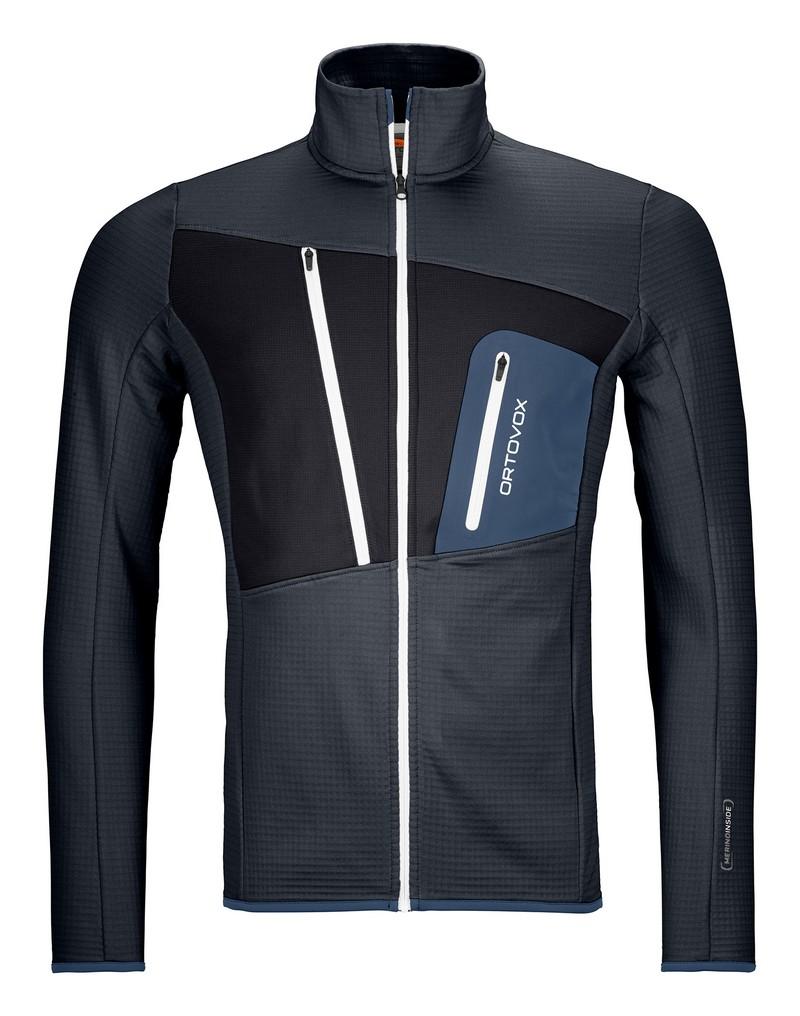 """Ortovox """"Fleece Grid Jacket M"""" - black steel"""