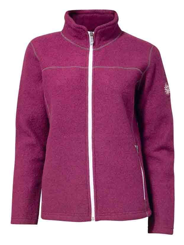"Ivanhoe ""Beata Fullzip"" - red plum"
