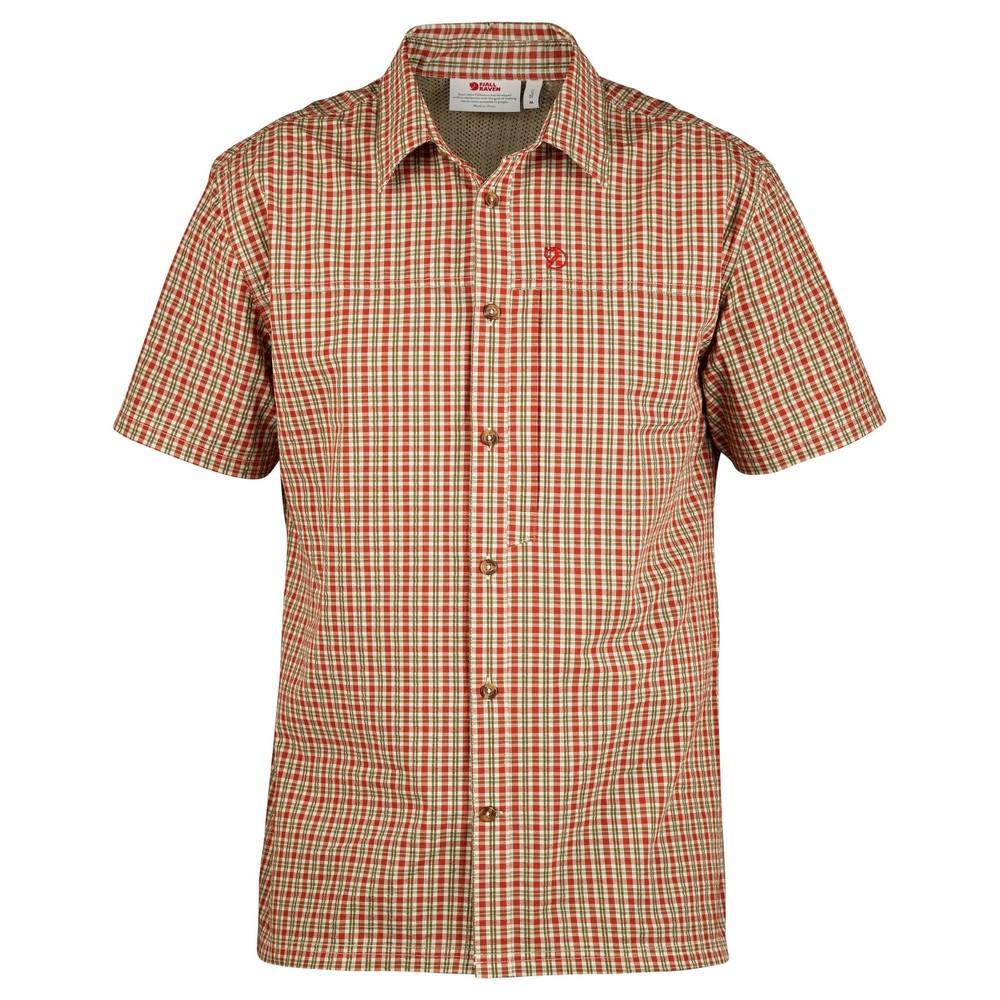 """Fjällräven """"Svante Seersucker Shirt SS M"""" - green"""