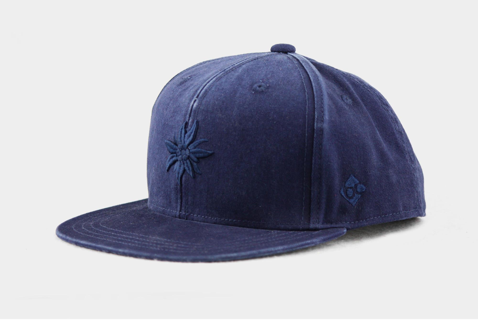 """Bavarian Cap """"Edelweiß"""" - urban blue"""