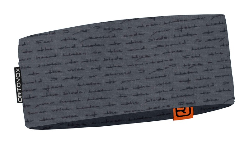 "Ortovox ""120 Tec Print Headband"" - black steel"