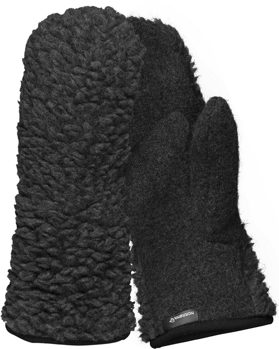 "Norrona ""Wool Pile Liner Mittens"" - caviar"