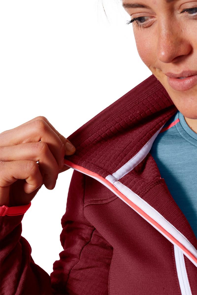 "Ortovox ""Fleece Grid Jacket W"" - dark blood"