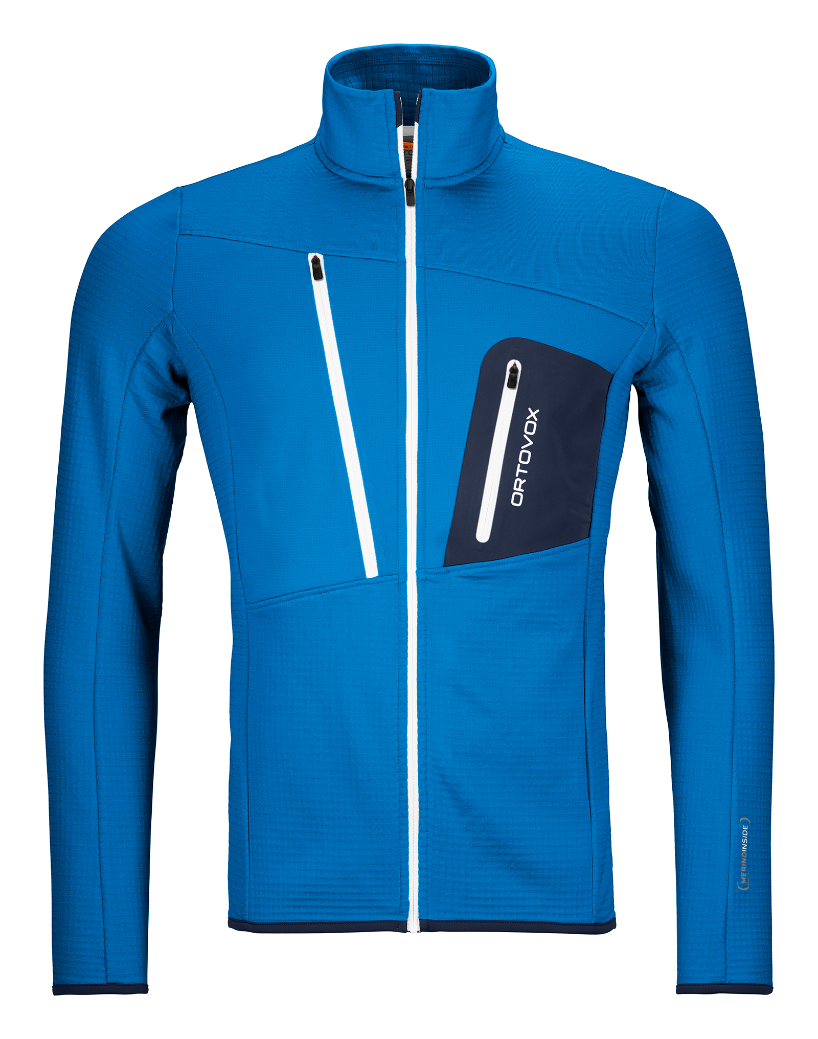 "Ortovox ""Fleece Grid Jacket M"" - safety blue"