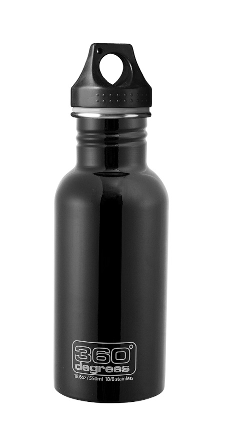 "360 Degrees ""Drink Bottle 550ml"" - black"