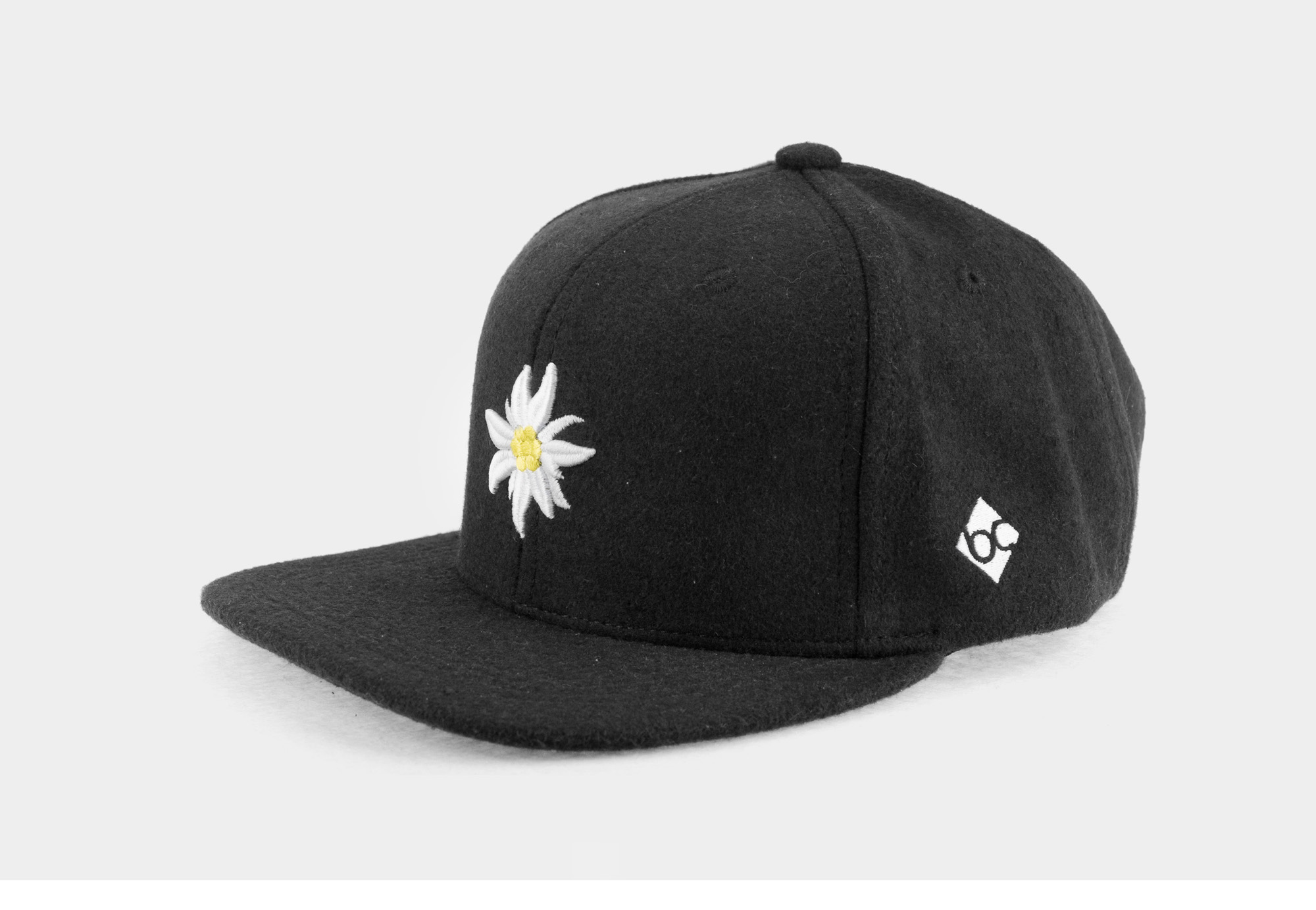 """Bavarian Cap """"Edelweiß"""" - dunkelgrau"""
