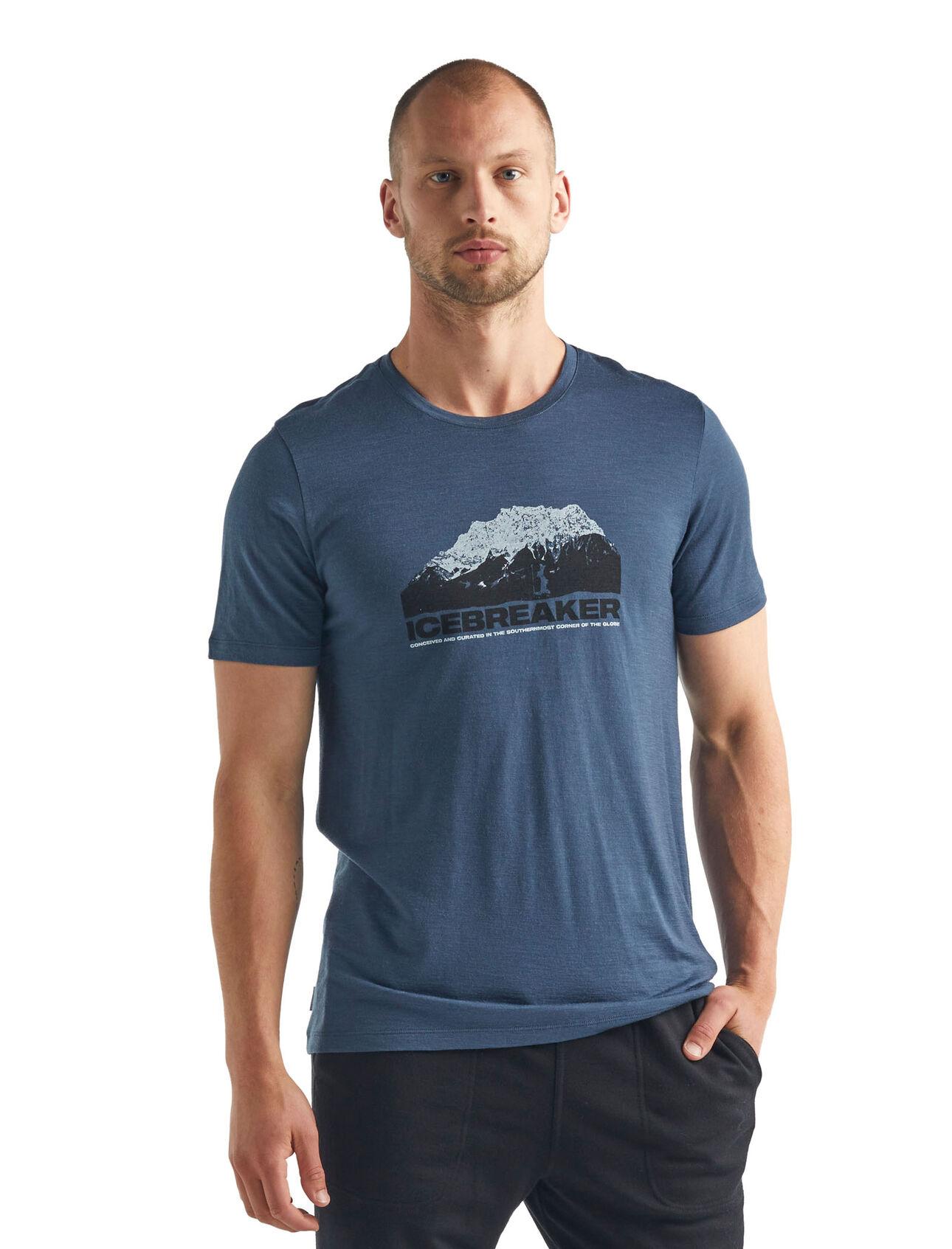 """Icebreaker """"M Tech Lite SS Crewe Icebreaker Mountain"""" - serene blue"""